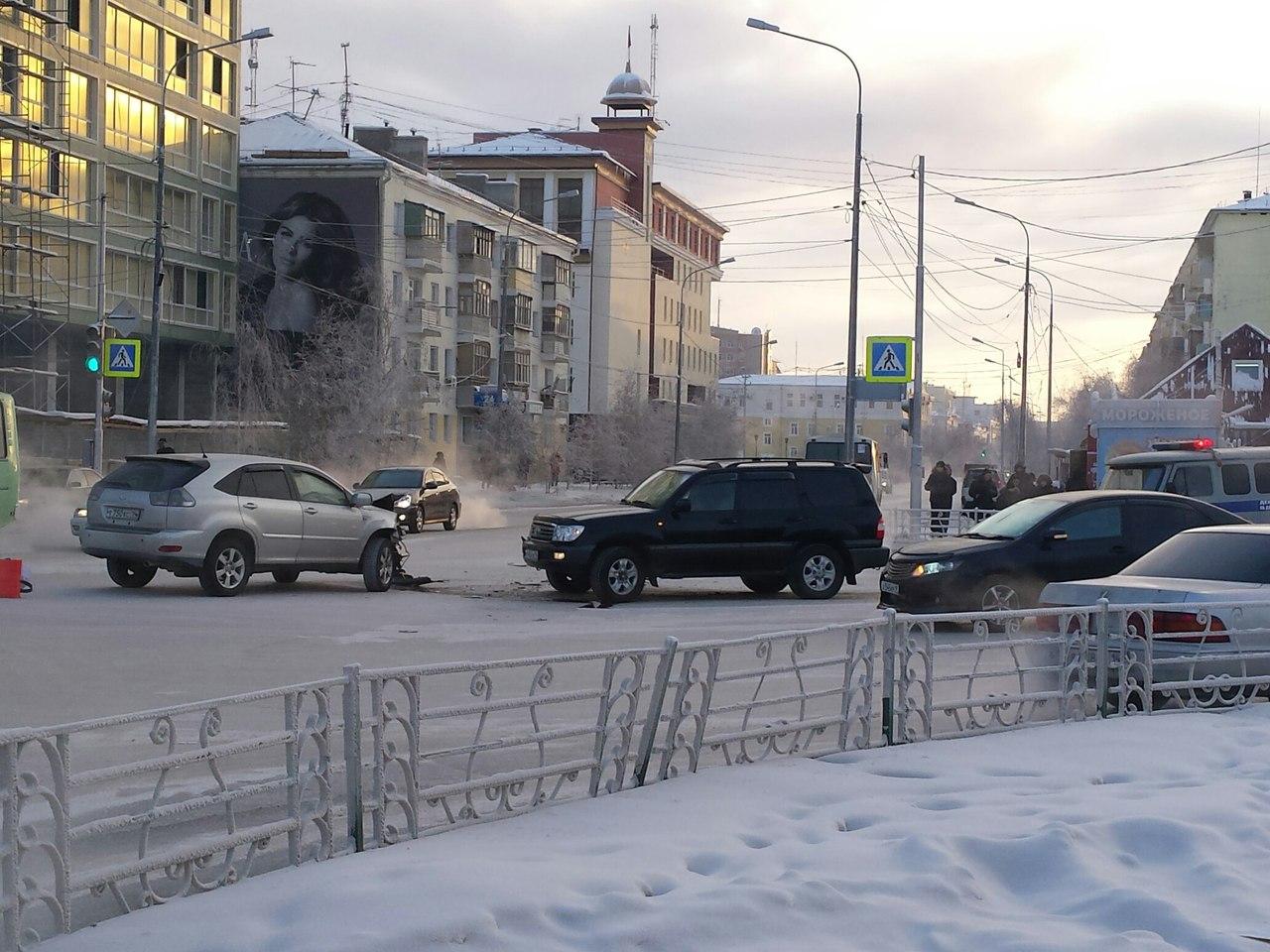 ДТП у ДК им.Кулаковского в Якутске