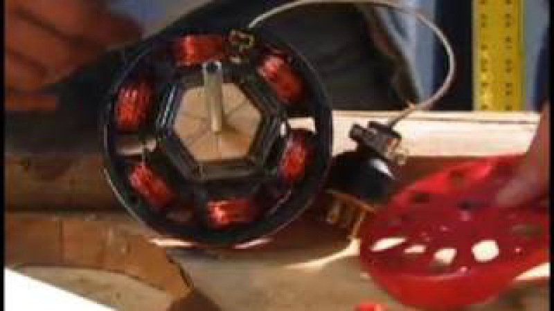 INDUCTION MOTOR DIY hack Alternator 40 watt low 800 RPM Neodymium Motor Generator Conversion