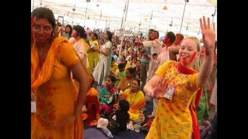FOREIGN HOLI of Sahaj Yoga People 2008 HBD Mata Nirmala Devi