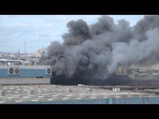 Пожар на заводе ЗИЛ. 08.07.2015
