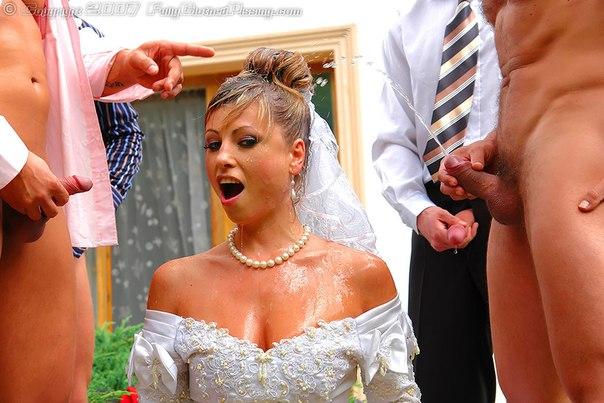 Порно обоссали невесту фото