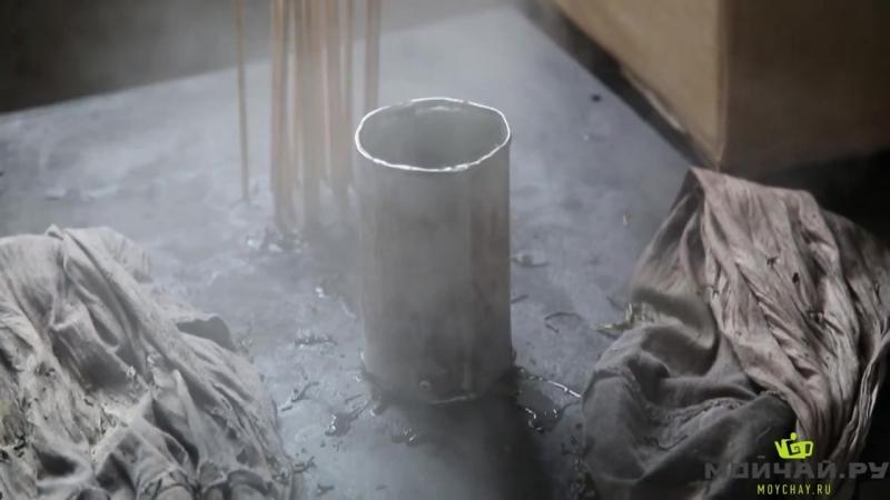 Юньнань, Цзингу. Часть 1. Производство чая пуэр на заводе Да Е, весна 2015 [HD, 720p]