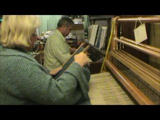 Willem Today: Practicing Bach while I load my weaving shuttle (weaving 128) ASMR weaving