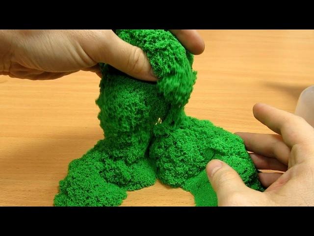 Кинетический песок Мерцающий изумруд Kinetic sand