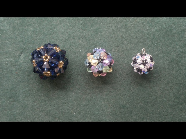 Beading4perfectionists Beaded ball workshop pendant for advanced beaders beading tutorial