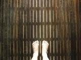 Предбанник тёплый пол / баня теплый пол самоделоьный