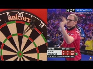 Mark Webster vs Terry Jenkins (PDC World Darts Championship 2016 / Round 2)