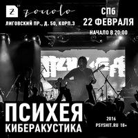 22.02 ПСИХЕЯ КИБЕРАКУСТИКА @ ZOCCOLO 2.0, СПб