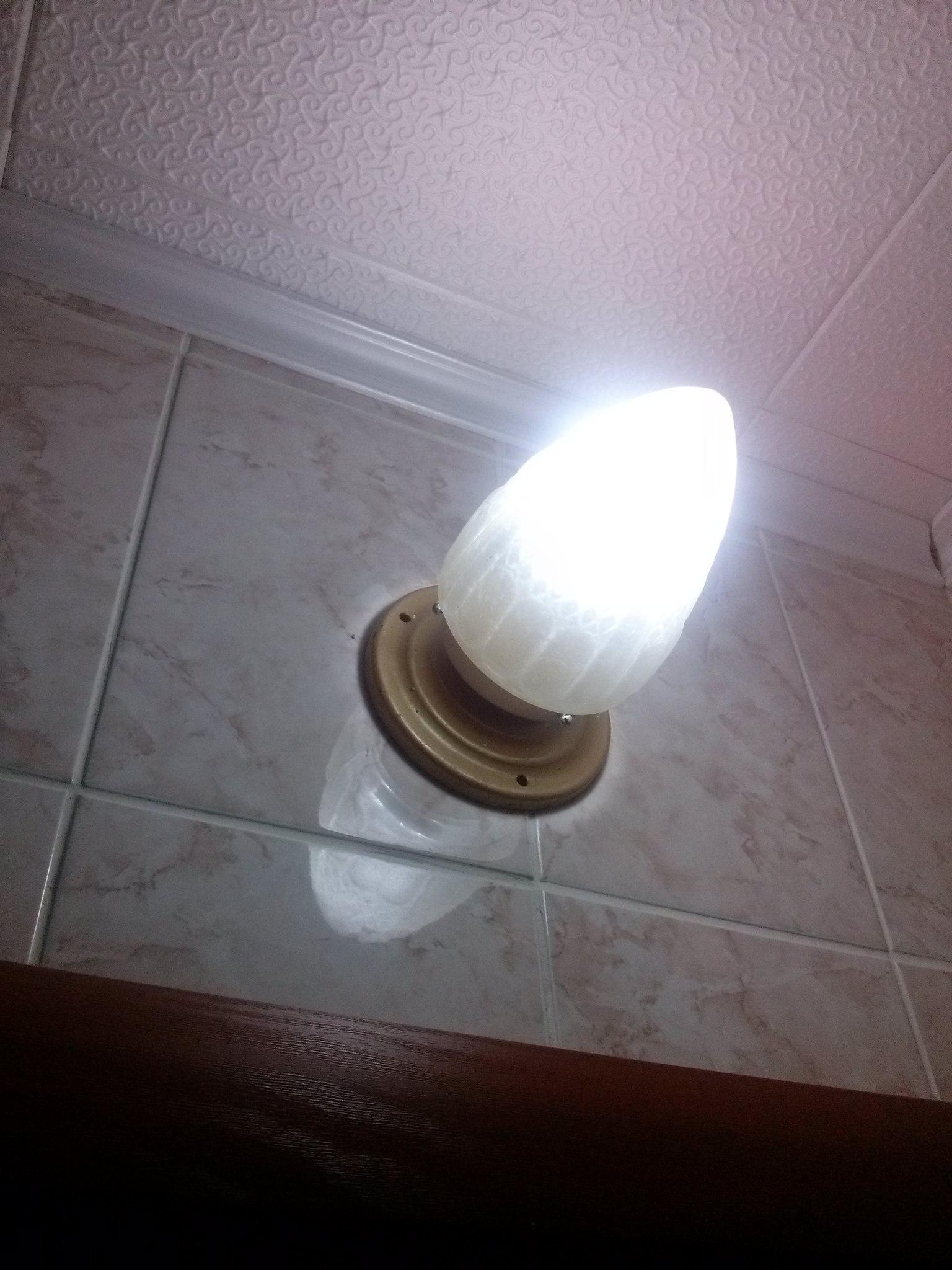 Светильник шишка схема