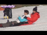 111213 Birth of a Family - Sleigh rides woohyun with boom Fancam