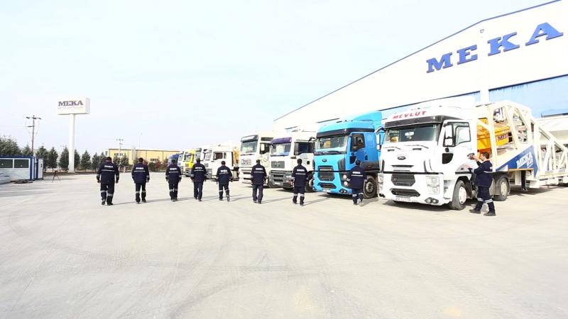 Одномоментная отгрузка 11 мобильных бетонных заводов MEKAMIX-60 с одной из фабрик МЕКА