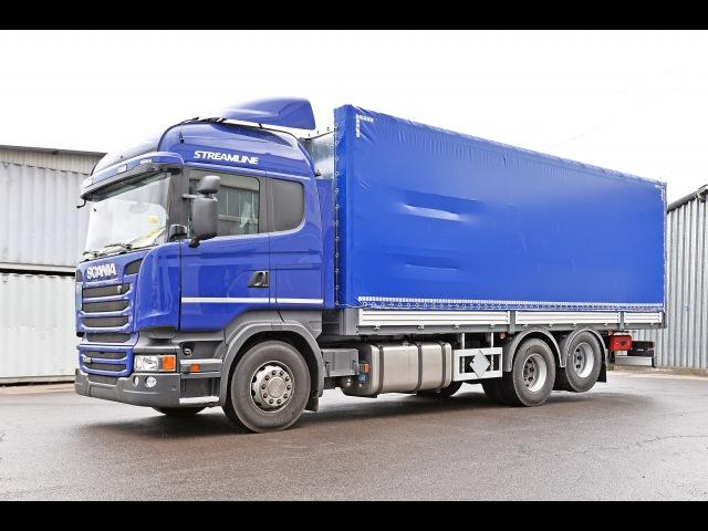 Scania R 400 бортовая платформа предназначенная для перевозки радиоактивных отходов
