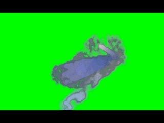 Скачать футаж Синий дым(хромакей)