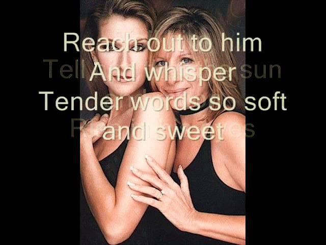 Celine Dion Barbra Streisand - Tell Him with lyrics