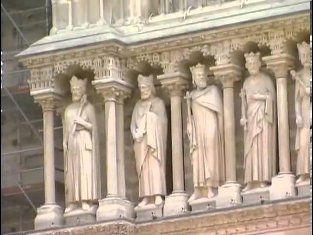 Готический Собор Парижской Богоматери Нотр Дам