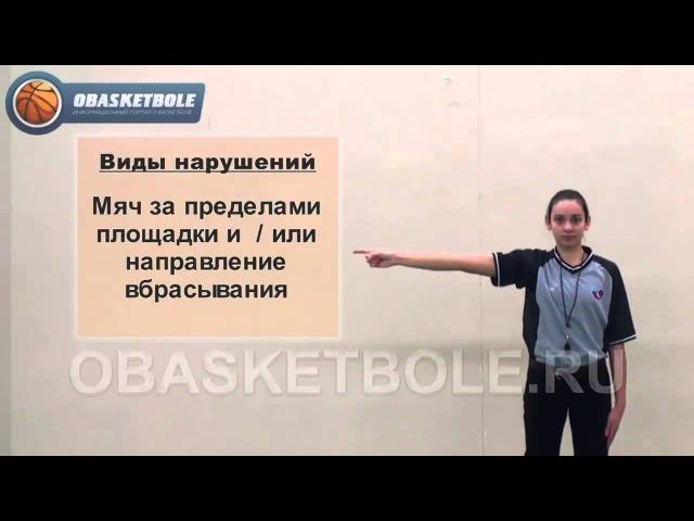 Учебно-методические материалы по судейству. Жесты баскетбола