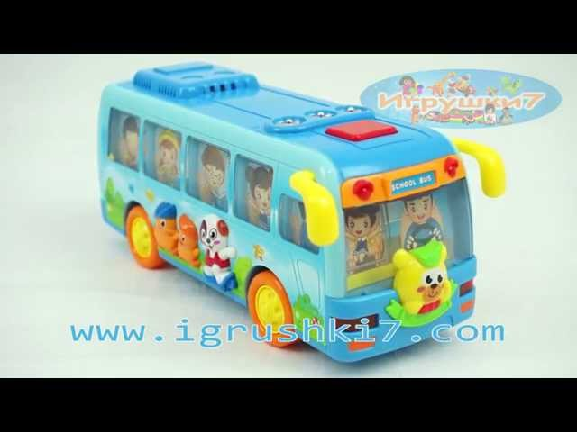 Муз разв. игрушка Автобус 7341 (24/2) Расти Малыш, песни, стихи, батар, в кор-ке