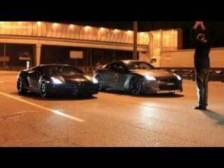 Lamborghini Gallardo UR TT vs Nissan GTR AMS Alpha 12 (360 km/h) (224 MPH)