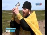 На о. Моржовец установили новые поклонные кресты