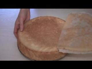 Бисквитный торт. Простой и вкусный рецепт - 640x480