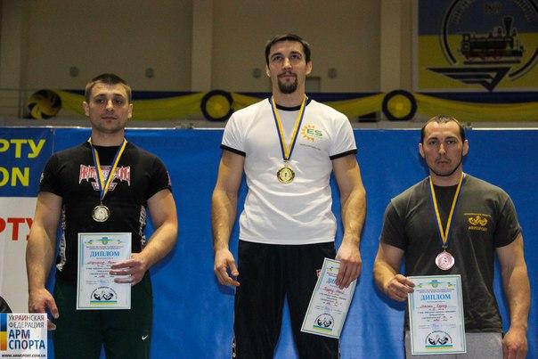 90 kg left hand (men) podium, 23th Ukraine National Armwrestling Championship 2016 │ Ukraine Armwrestling Federation