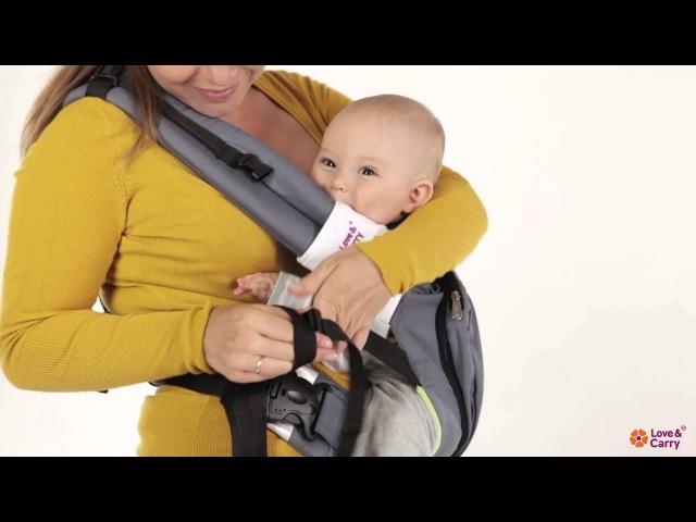 Эрго-рюкзак Love Carry. Инструкция позиция на бедре
