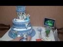 Зимний свадебный торт, part 3(wedding cake)