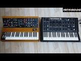 Moog Minimoog vs. ПОЛИВОКС Polivoks Synthesizer - sound battle