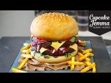 The Making of a Burger Cake!  Cupcake Jemma