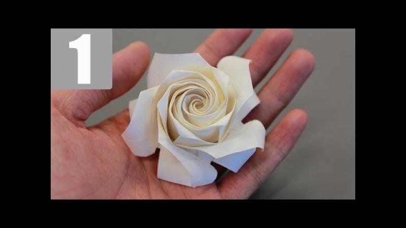 Part1/3 : How to fold Naomiki Sato Origami Rose (Pentagon Rose) 佐藤直幹 摺紙玫瑰教學