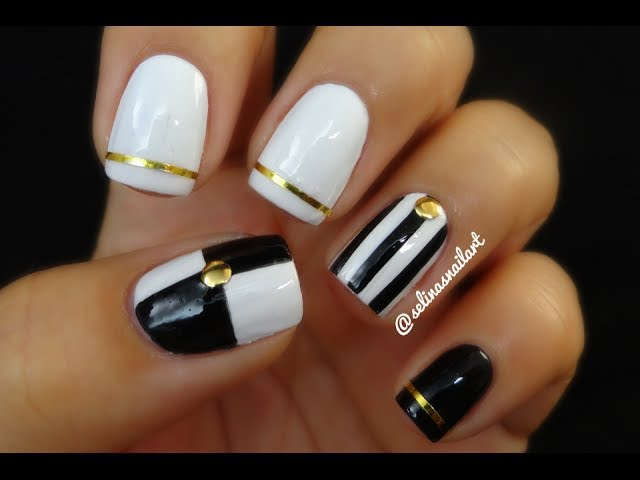 Black White Nail Art Nail Art Tape | Selina's Nail Art