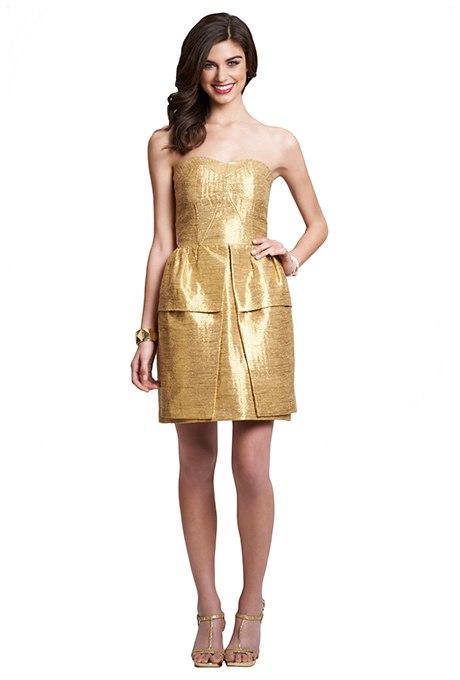 pAvbHW1Xyqs - Золотое свадебные платья для подружек невесты: металлический блеск гламура (30 фото)