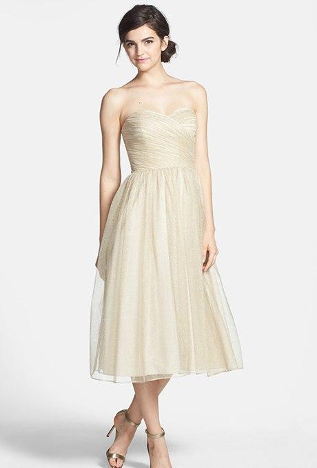 8lnUXIrn9co - Золотое свадебные платья для подружек невесты: металлический блеск гламура (30 фото)