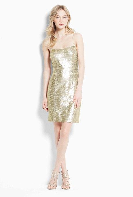 0KCpQqKPlSM - Золотое свадебные платья для подружек невесты: металлический блеск гламура (30 фото)