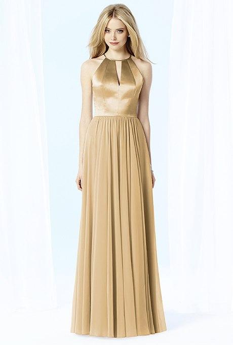OpvtdlbENQk - Золотое свадебные платья для подружек невесты: металлический блеск гламура (30 фото)