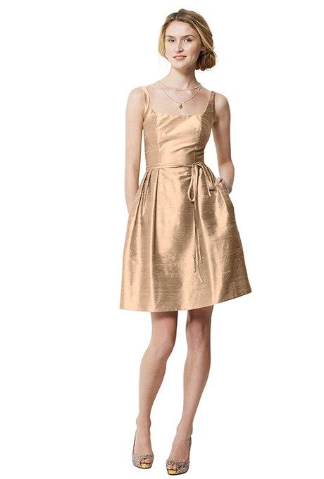 PvTxHrQ juo - Золотое свадебные платья для подружек невесты: металлический блеск гламура (30 фото)