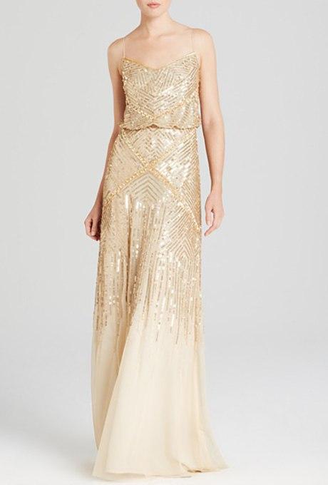 nwDfFYceXcQ - Золотое свадебные платья для подружек невесты: металлический блеск гламура (30 фото)