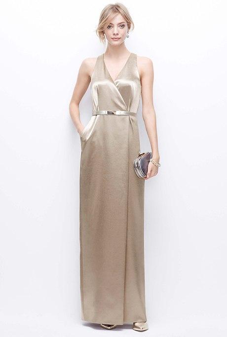 0xyX0KFJXwI - Золотое свадебные платья для подружек невесты: металлический блеск гламура (30 фото)