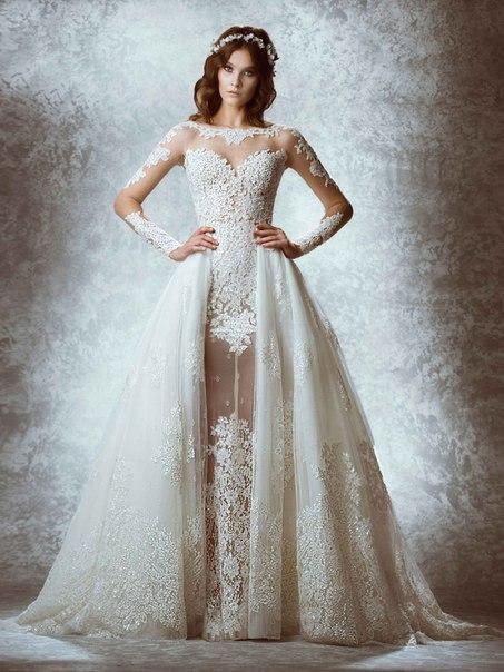 Полупрозрачные свадебные платья