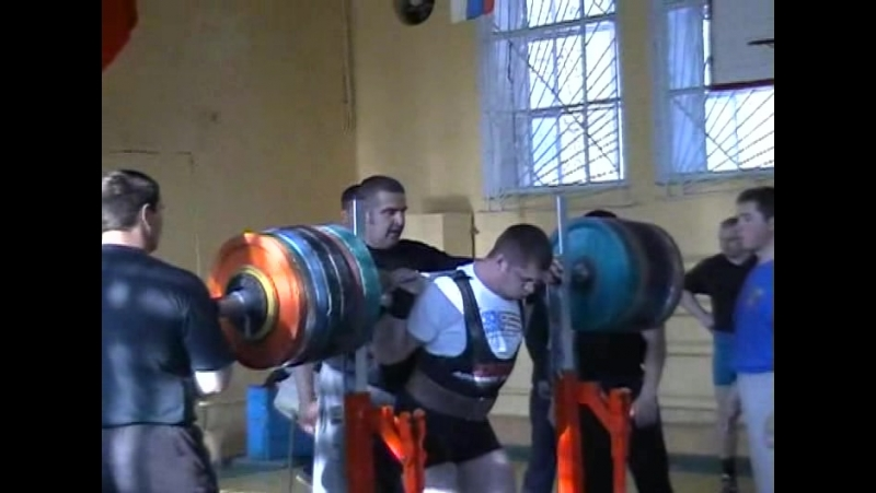 Alexandr Butov SQ-400kg@110kg 2006 powerlifting пауэрлифтинг присед 400кг