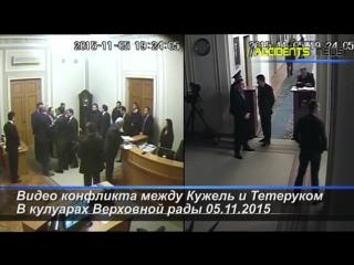 Видео с 2-х камер наблюдения конфликта между Кужель и Тетеруком