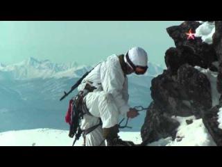 Спецназ ВВО штурмует ледяные скалы в горах Камчатки