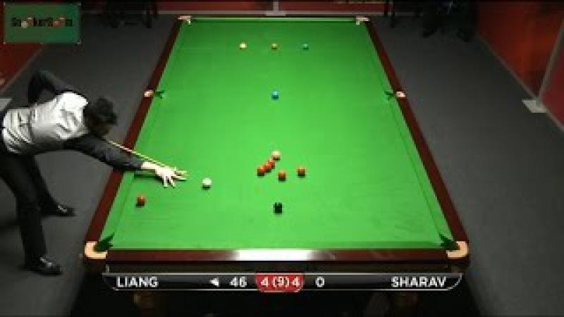 Liang Wenbo 121 v Eden Sharav Decider German Masters Qualifiers 2015