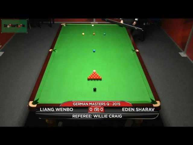 Liang Wenbo v Eden Sharav German Masters Qualifiers 2015