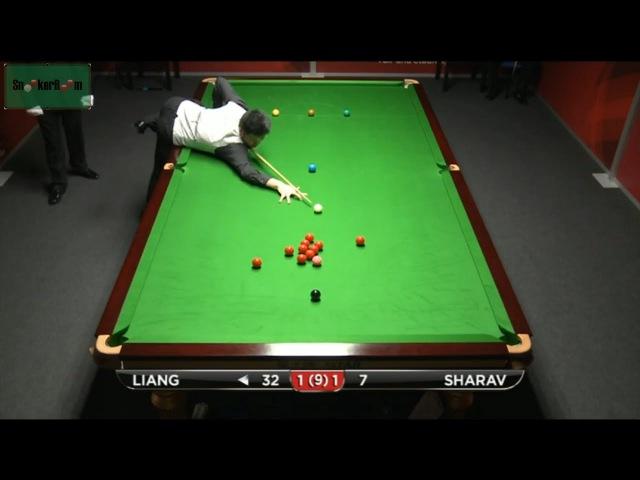 Liang Wenbo 102 v Eden Sharav German Masters Qualifiers 2015