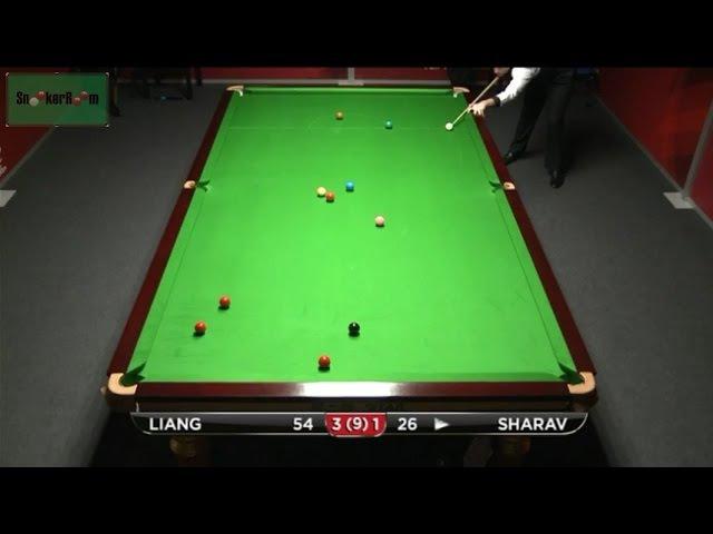 Eden Sharav Plant v Liang Wenbo Frame 5 German Masters Qualifiers 2015