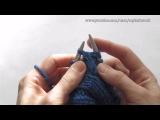 Вязание спицами. Вяжем шапку-ушанку. Часть 2. Knitting. Knit hat with earflaps. Part 2.