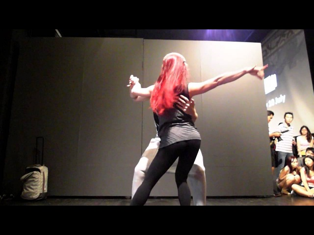 20150710 Zouk SEA Bruno Galhardo Larissa Thayane : Playing With Steps Demo