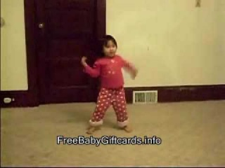 3 yr. old girl dancing to Michael Jackson's Thriller