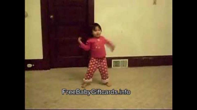 3 yr. old girl dancing to Michael Jackson's Thriller